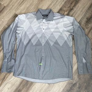 Sean John Tailored Fit Long Sleeve Button Up - 18